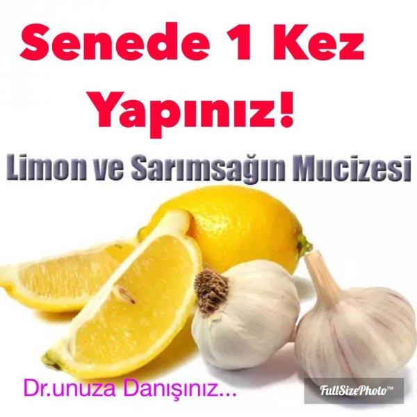 Limon suyu ve sarımsak Senede Bir Defa Kesinlikle Yapın..!